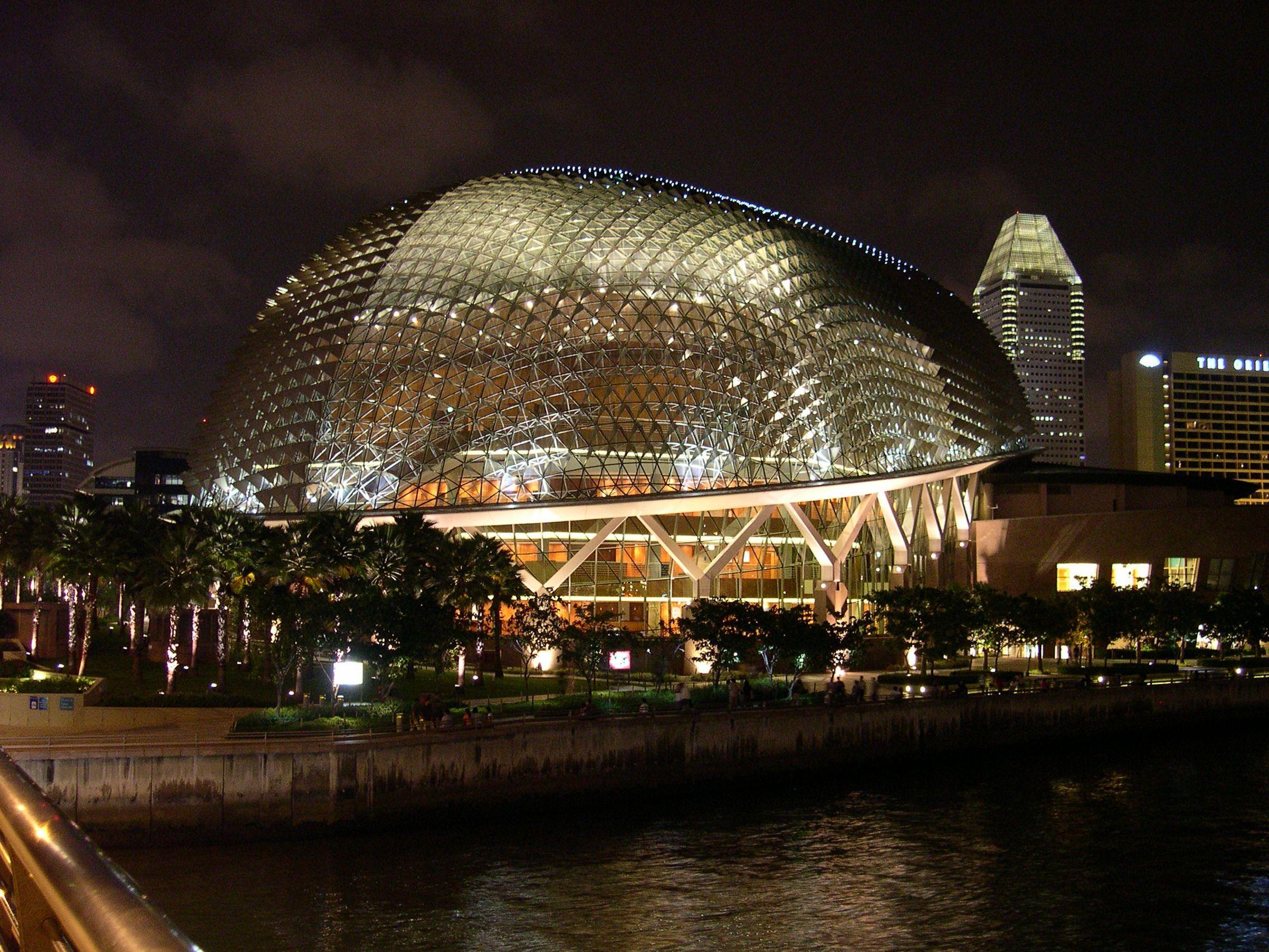 Imagen gratis: Singapur, cultural, centro, noche