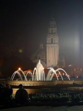 balboa, Parks, Türme, Brunnen, Nacht