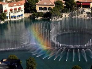 Bellagio, suihkulähteet, rainbow