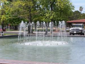 fountain, Santa, Clara