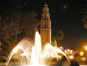 notte, fontane
