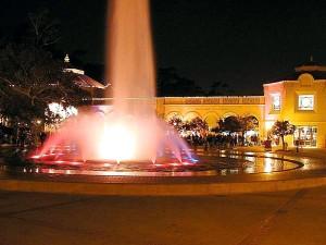 night, fountains, park