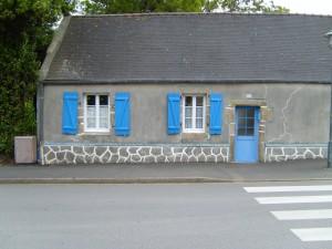 bleu, fenêtre, Shotters, maison