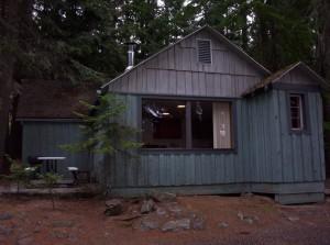 Stuga, präst, sjön, Idaho