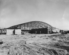 gradnje hangara, jezero, napa