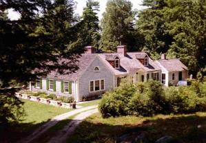 lindo, cabaña, casa, bosque