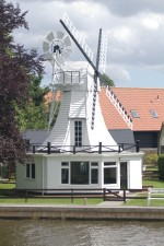 house, style, windmill