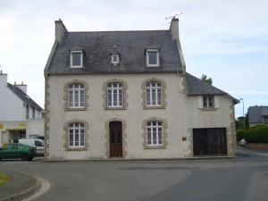 old, house, village