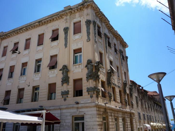 cidade turística, rua, Croácia, Balkan