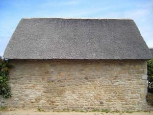 gamle, lille, hus, granit, sten