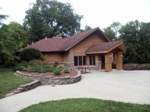 Pavilion, Pinicon, ridge, park, central, by, Iowa