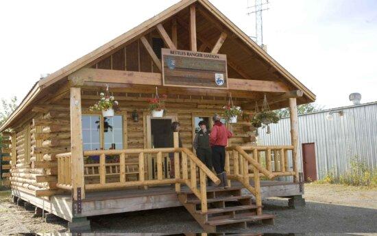 Ranger, casa de madeira, estação,