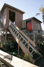 drveni, kuće, podigao, prizemlje, koraka