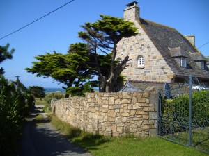 stone, house, village, countryside,