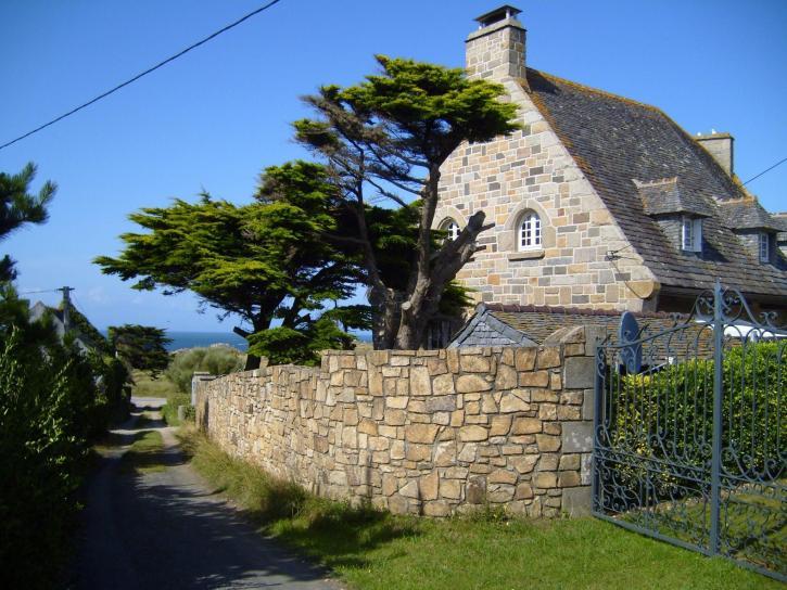 pierre, maison, village, campagne,