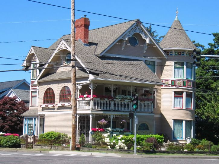 traditional, wooden, house, Bellingham