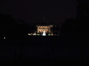 white, house, night