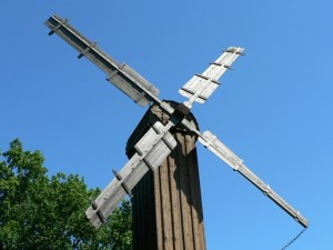 windmill, village