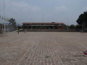 entrée, plaza, centro, vacacional, Oaxtepec