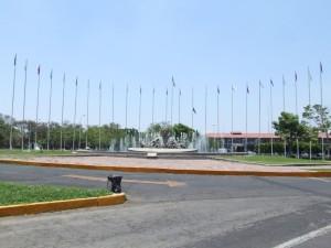 entrée, centro, vacacional, Oaxtepec