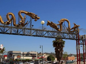 inngangen, chinatown, Angeles