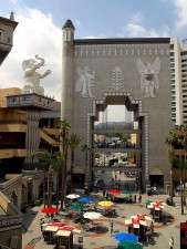 hollywood, montagne, shopping, centre, Angeles