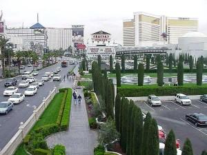 Vegas, fuentes, hoteles, casinos, Caesars, palacio, calle, coches