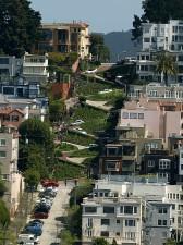lombard, rue, San Francisco, Amériques, tortueuse, rue