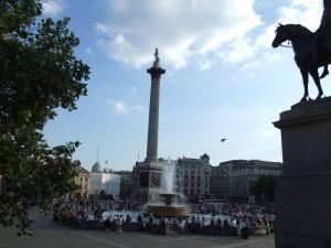Nelson, kolom, Trafalgar, square, Londen
