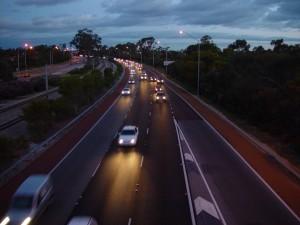 vers le nord, l'autoroute, la circulation