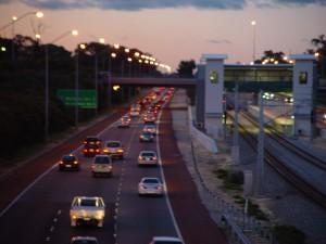 vers le nord, l'autoroute, la circulation, greenwood