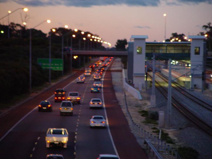 northbound, freeway, traffic, greenwood