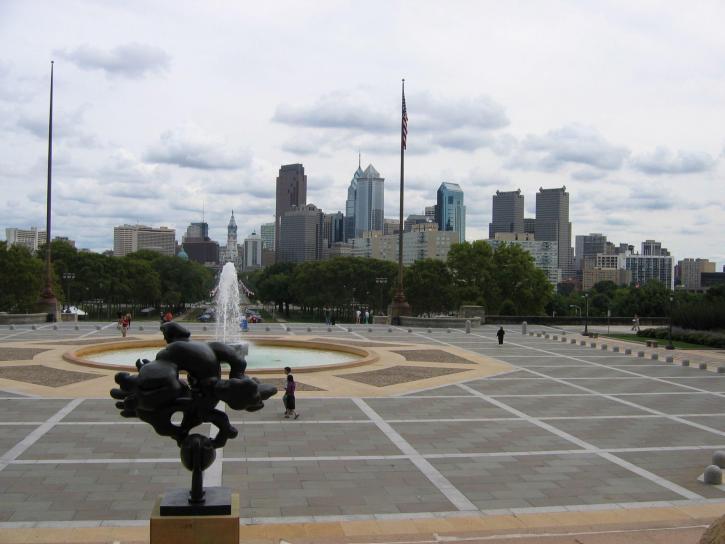 città, Philadelphia, arte, museo, passi