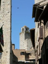 bell, tower, village