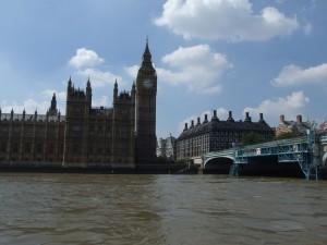 duże, domy, Parlament, Londyn