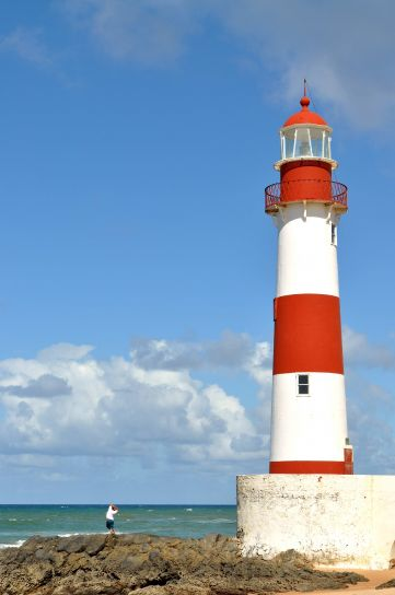 lighthouse, tower, near, coast