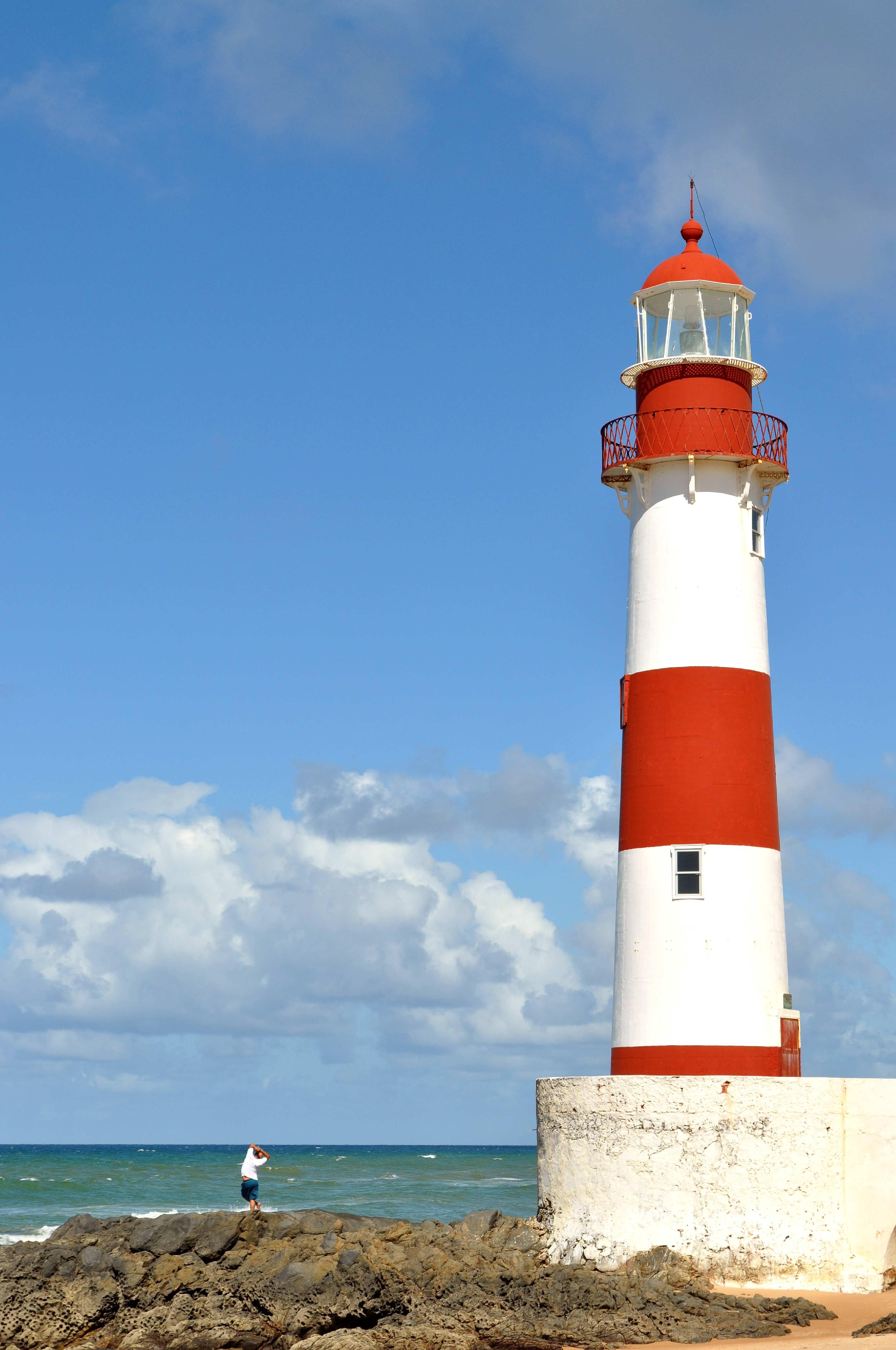 Free photograph; lighthouse, tower, near, coast