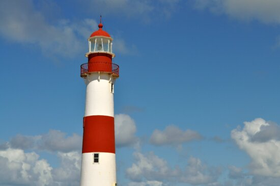 rouge, tour, phare