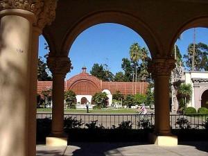 Balboa, parque, coluna, jardim