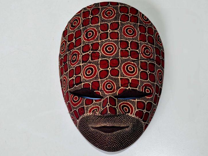 umjetnički, ukrasne, maska, zid