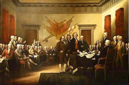 John Trumbull, declaration, independence