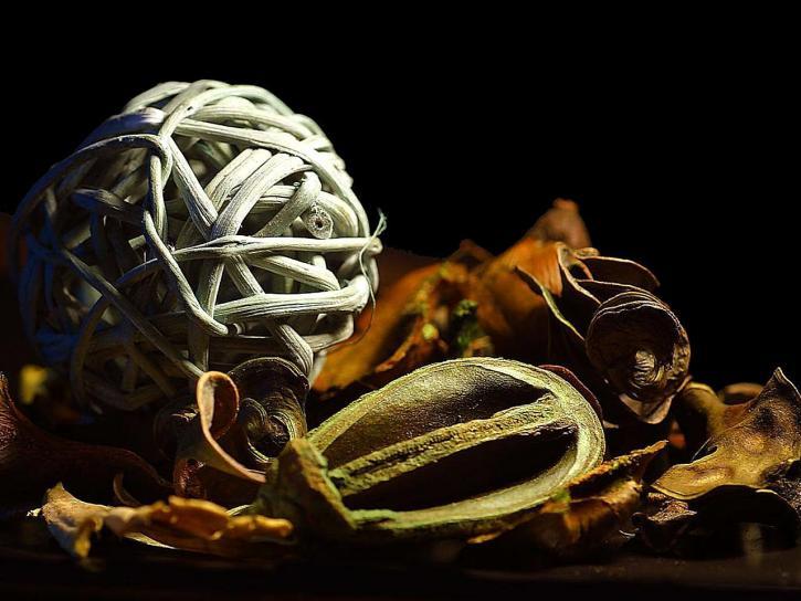 leaves, balls, art, work