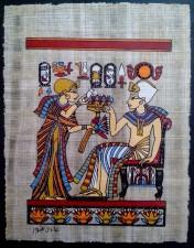 vieux, papyrus, égyptien, motifs