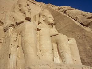 Simbel, estatua, egipto