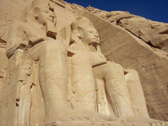 simbel, statue, egypt