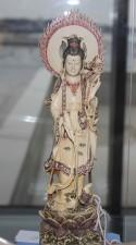 éléphant, ivoire, statue