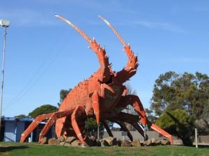 géant, le homard, la sculpture