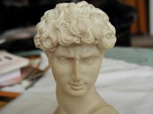 roman, emperor, statue, head