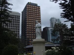 statue, parc