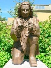 statue, Carl, Linne, Carolus, Linnaeus
